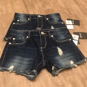 DKNY girls blue jean shorts